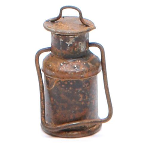 Bottiglia metallo con coperchio anticata presepe 1