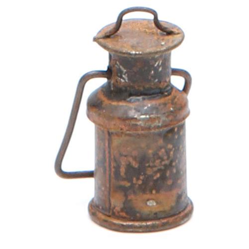 Bottiglia metallo con coperchio anticata presepe 2