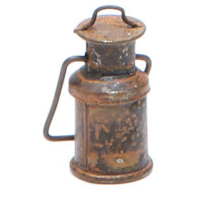 Metal bottle with cover, antique finish for nativities s2
