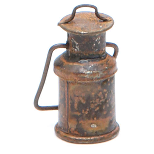 Metal bottle with cover, antique finish for nativities 2