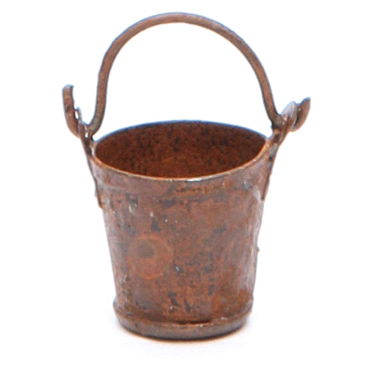 Metal bucket with antique finish for DIY nativities 4