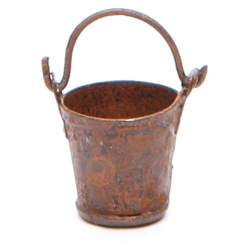 Metal bucket with antique finish for DIY nativities 1