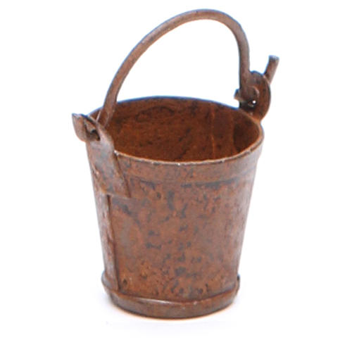 Metal bucket with antique finish for DIY nativities 2