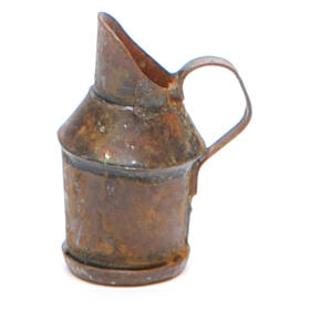 Metal jug with antique finish for nativities s1