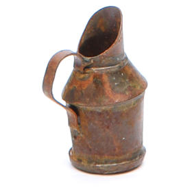 Metal jug with antique finish for nativities s2