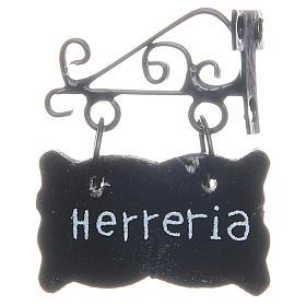 Sinal Herreria (ferreiro) em ESPANHOL bricolagem presépio s1
