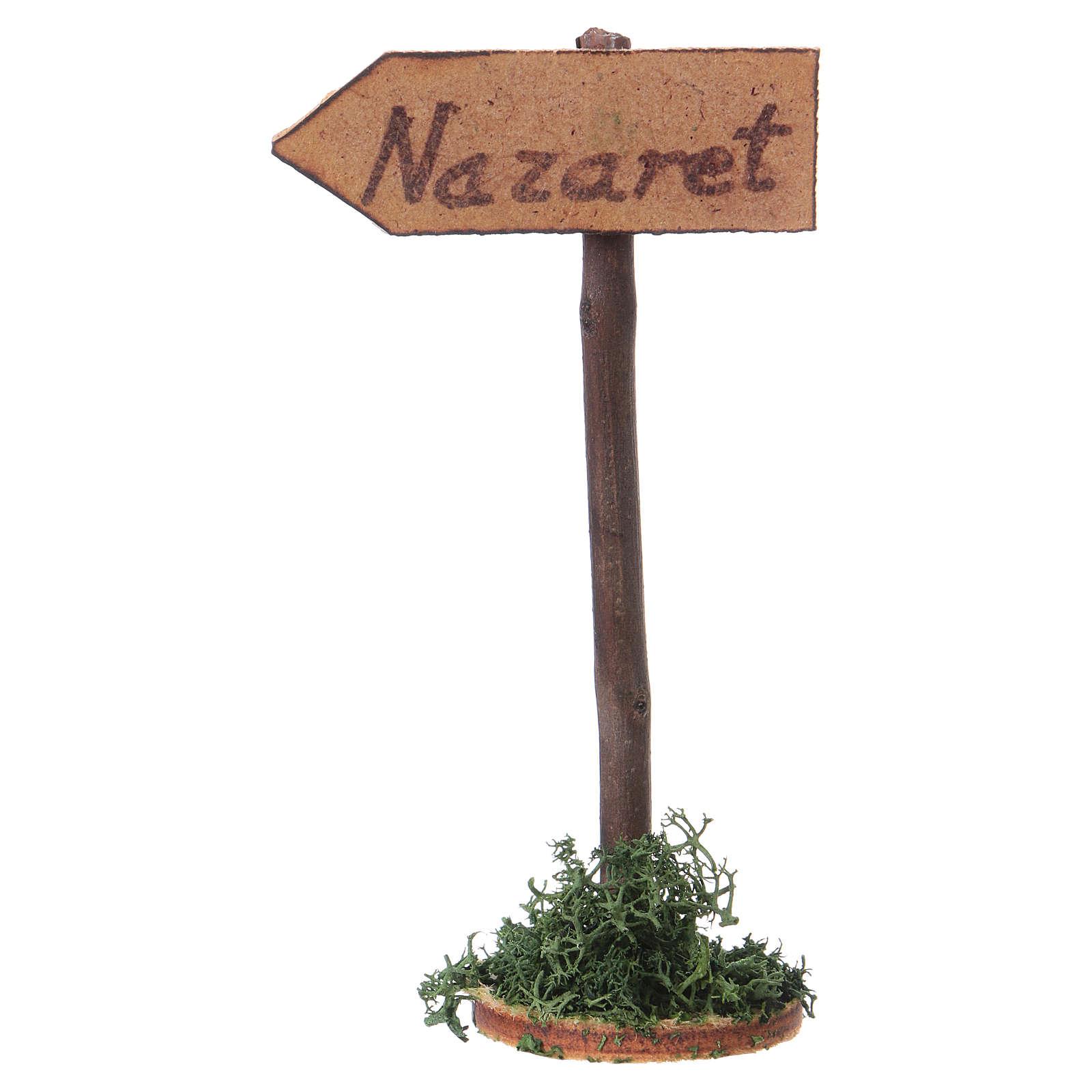 Strassenschield Richtung Nazareth für Krippe 4