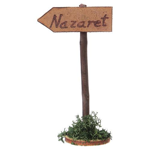 Strassenschield Richtung Nazareth für Krippe 3