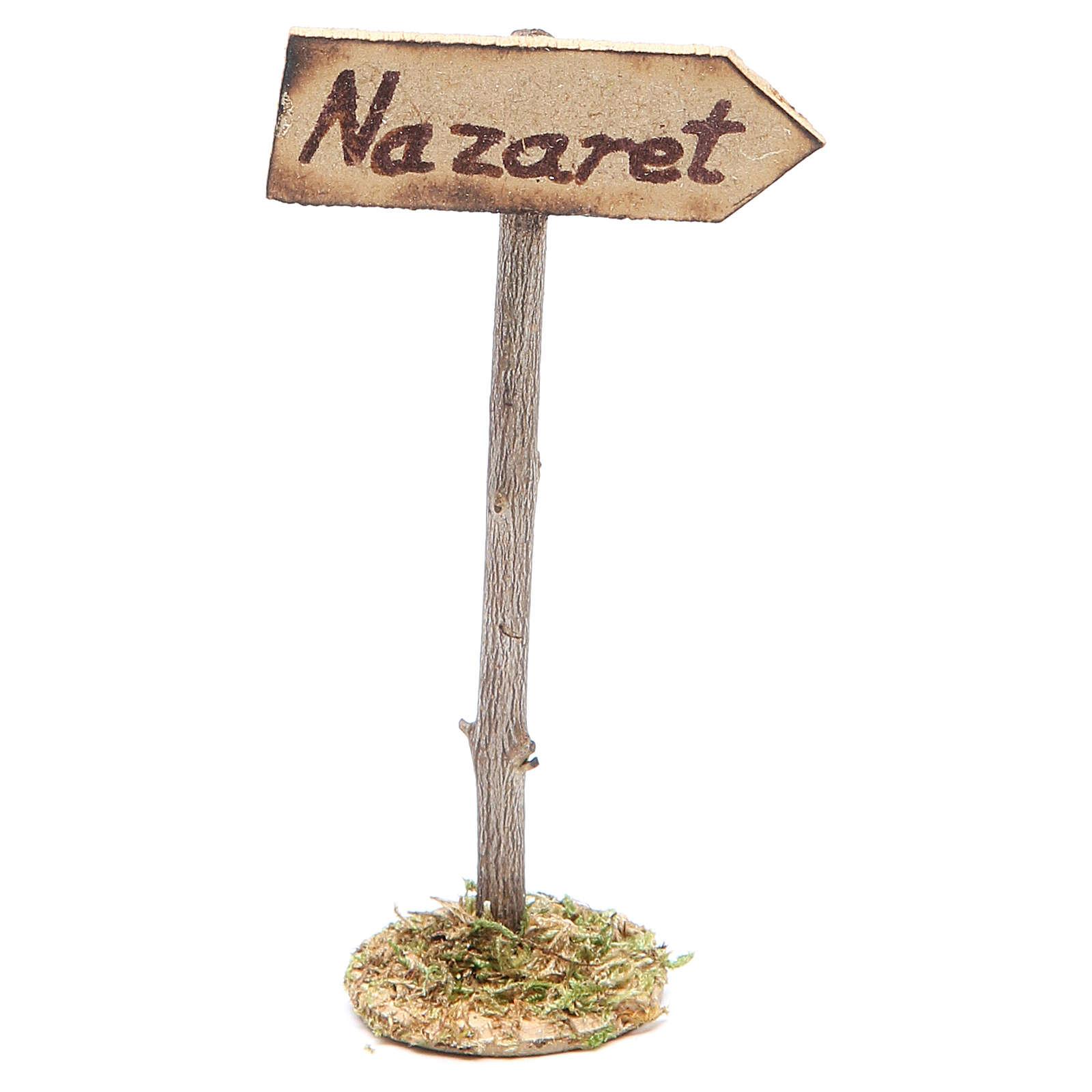 Cartello stradale per Nazareth per presepe 4