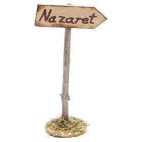 Cartello stradale per Nazareth per presepe s1