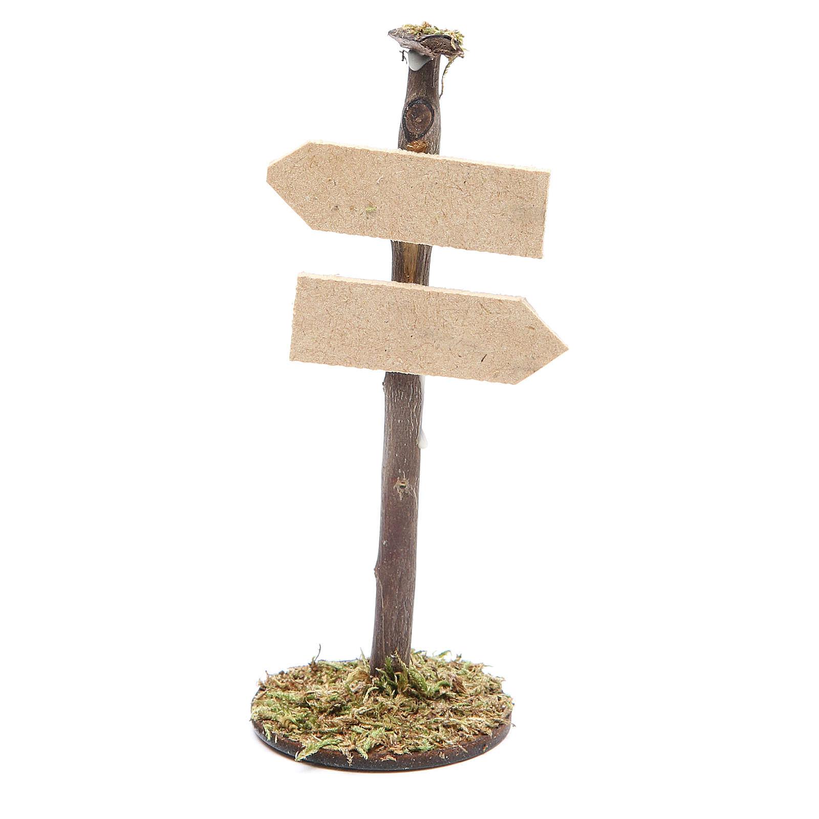 Panneau route pour crèche en bois 4