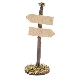 Panneau route pour crèche en bois s1