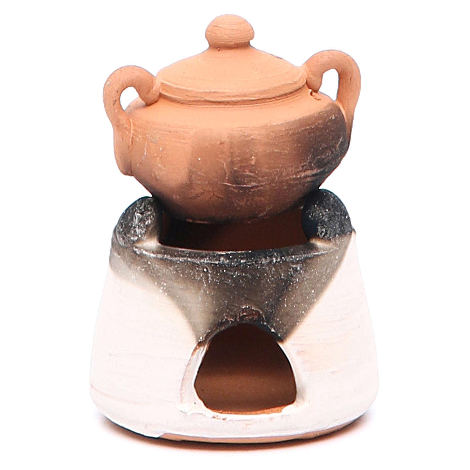 Horno cerámica con olla 6,5 cm 4