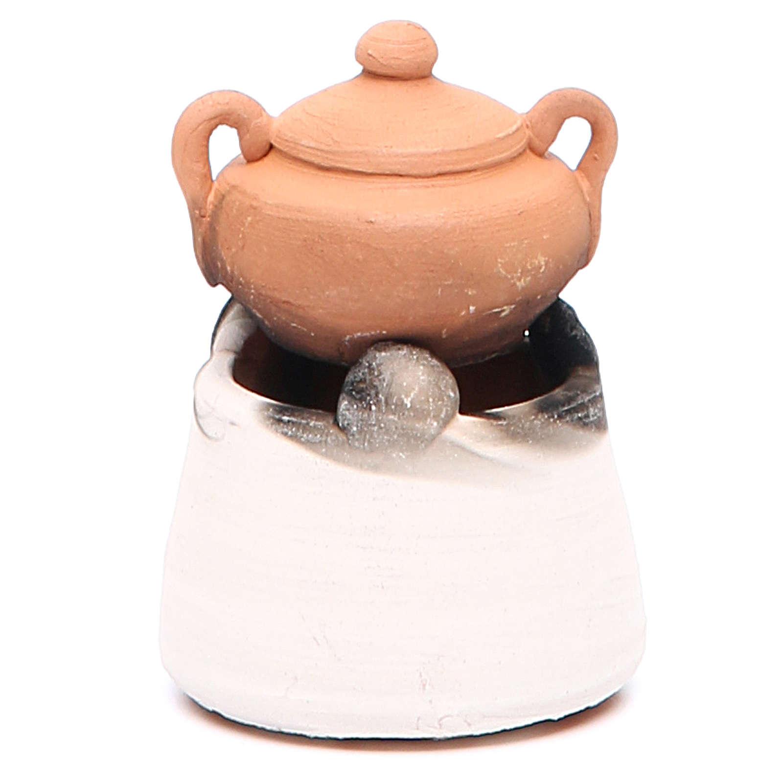 Forno in ceramica con pentola h.6, 5 cm 4