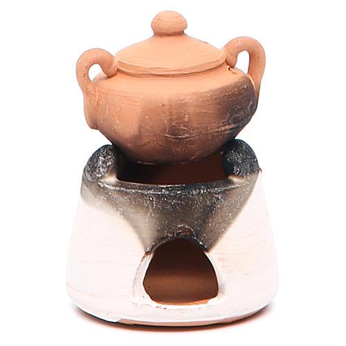 Forno in ceramica con pentola h.6, 5 cm 1