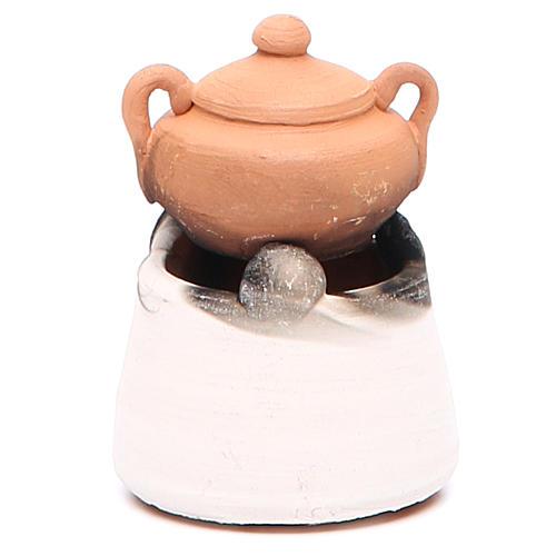Forno in ceramica con pentola h.6, 5 cm 2