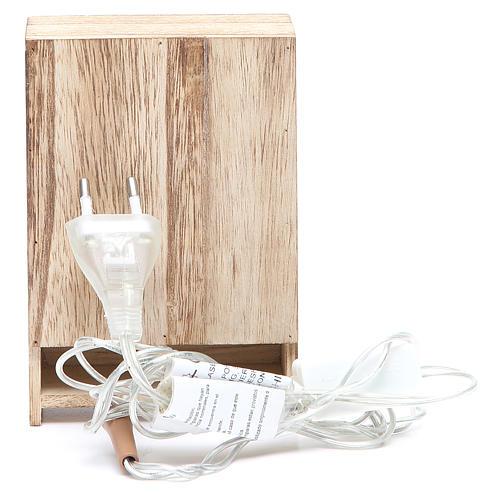 Cucina in legno con luce e miniature 10x3xh.14 cm 4