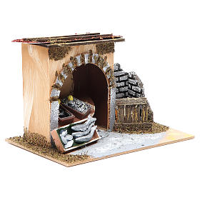 Fishmonger shop for nativities measuring 14x20x14cm s3