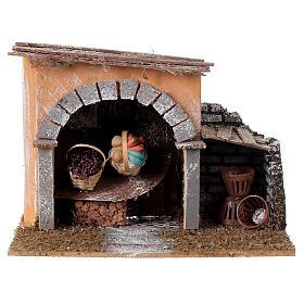 Basket shop for nativities measuring 14x20x14cm s1