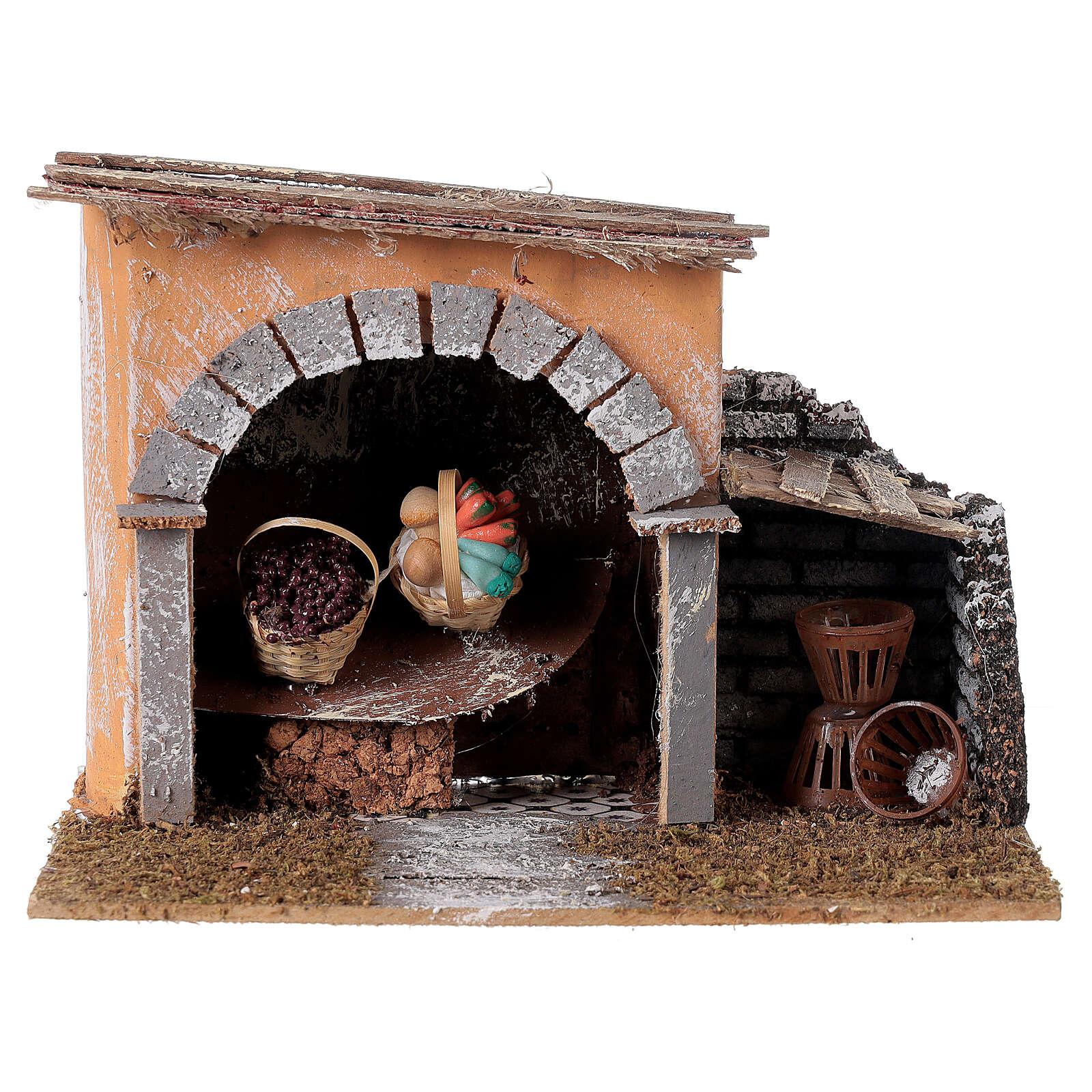Bottega con cestini per presepe 14x20x14 cm 4