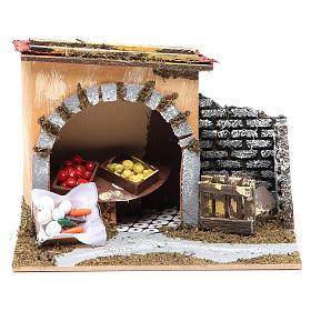 Tienda de fruta para belén 14x20x14 cm s1