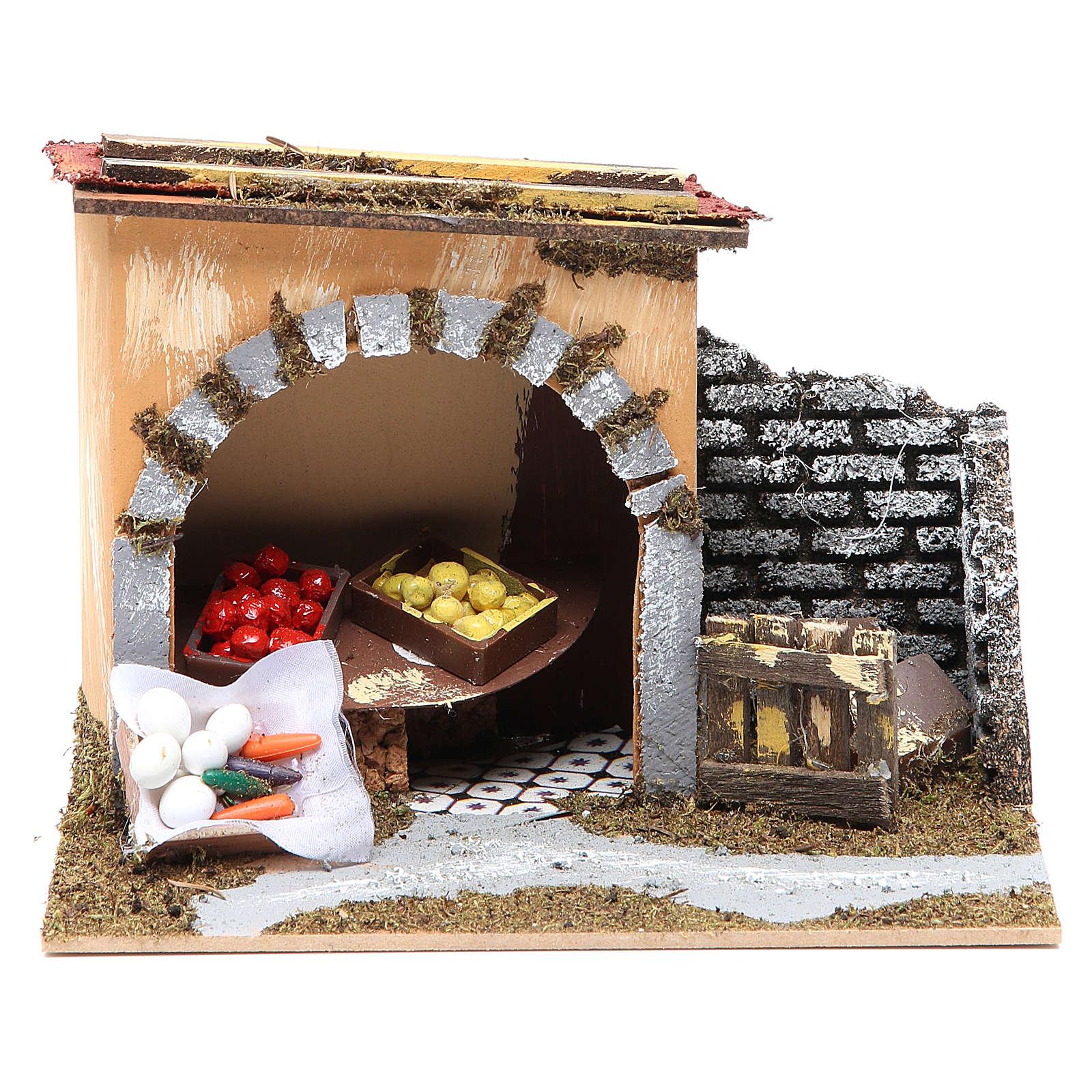 Bottega della frutta per presepe 14x20x14 cm 4
