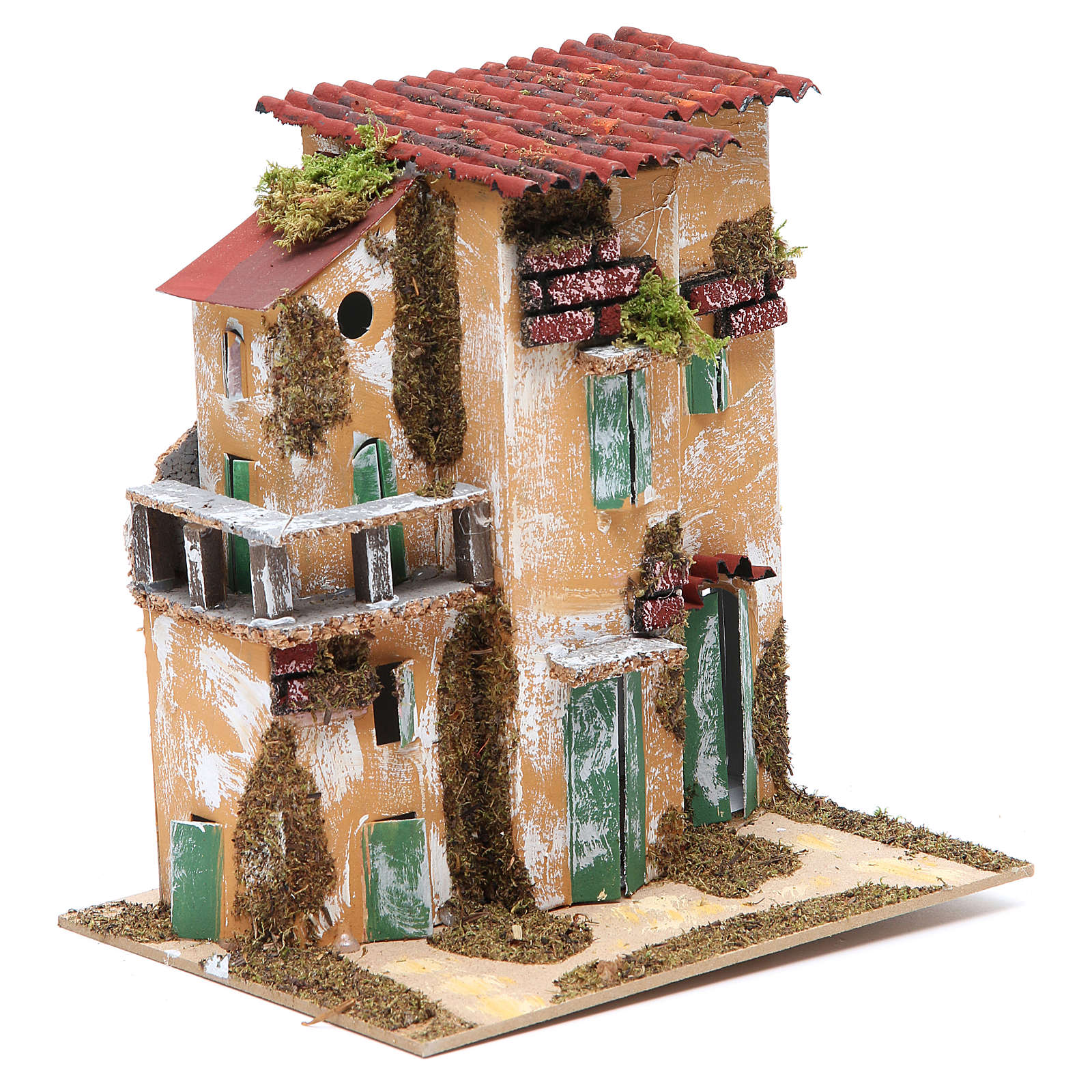 Nativity farmhouse with hens 21x21x16cm, assorted models 4