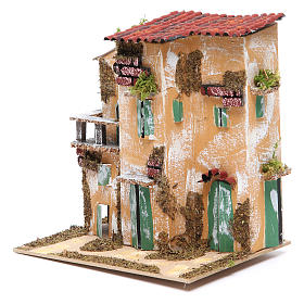 Nativity farmhouse with hens 21x21x16cm, assorted models s3
