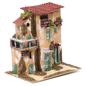 Nativity farmhouse with hens 21x21x16cm, assorted models s4