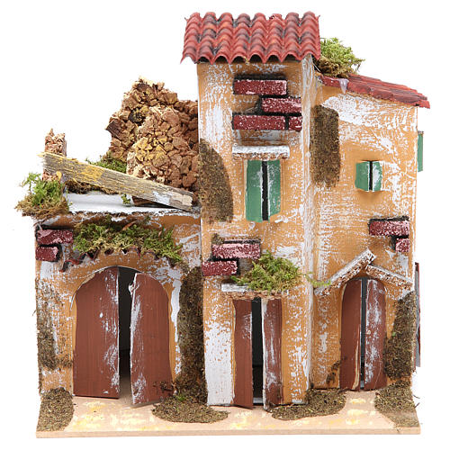 Nativity farmhouse with hens 21x21x16cm, assorted models 1