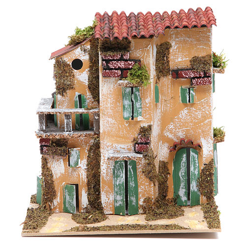 Nativity farmhouse with hens 21x21x16cm, assorted models 2