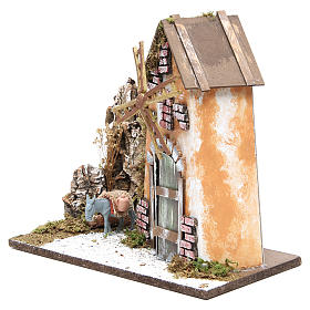 Wind mill for nativities measuring 30x33x18cm with donkey s2
