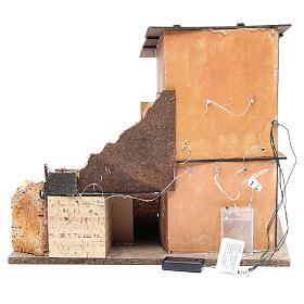 Borgo presepe e capanna 38x45x30 cm con forno e 10 luci s4