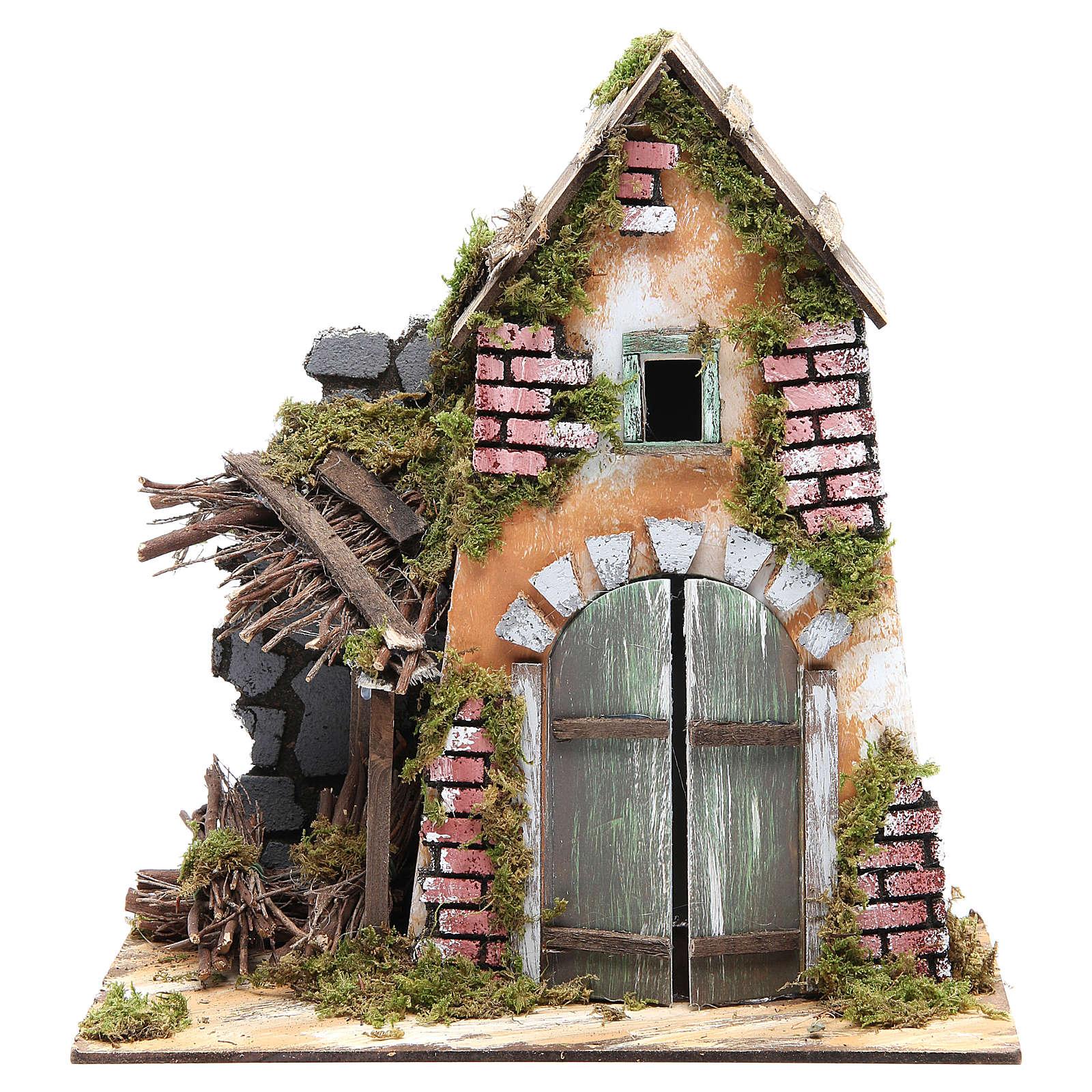 Accessory for nativity: farmhouse measuring 30x28x15cm 4
