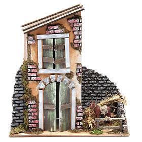 Accessory for nativity: farmhouse measuring 30x28x15cm s2