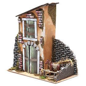 Accessory for nativity: farmhouse measuring 30x28x15cm s3