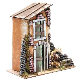 Accessory for nativity: farmhouse measuring 30x28x15cm s4