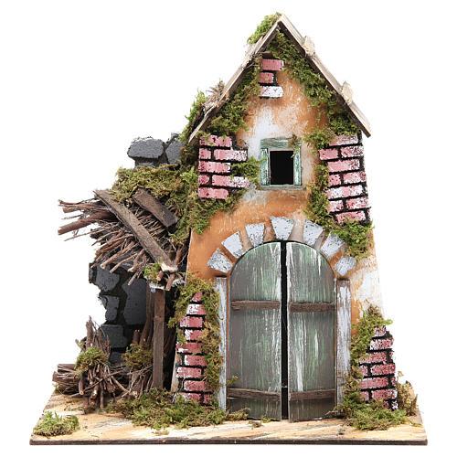 Accessory for nativity: farmhouse measuring 30x28x15cm 1