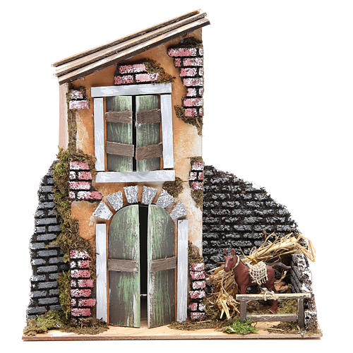 Accessory for nativity: farmhouse measuring 30x28x15cm 2