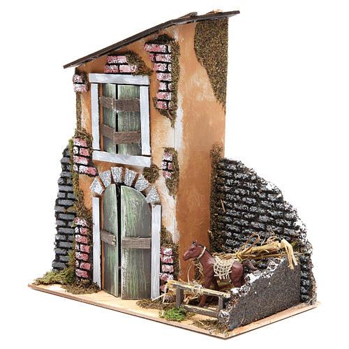 Accessory for nativity: farmhouse measuring 30x28x15cm 3