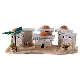Settings, houses, workshops, wells: Nativity Arabian houses 8x15x10cm, assorted models
