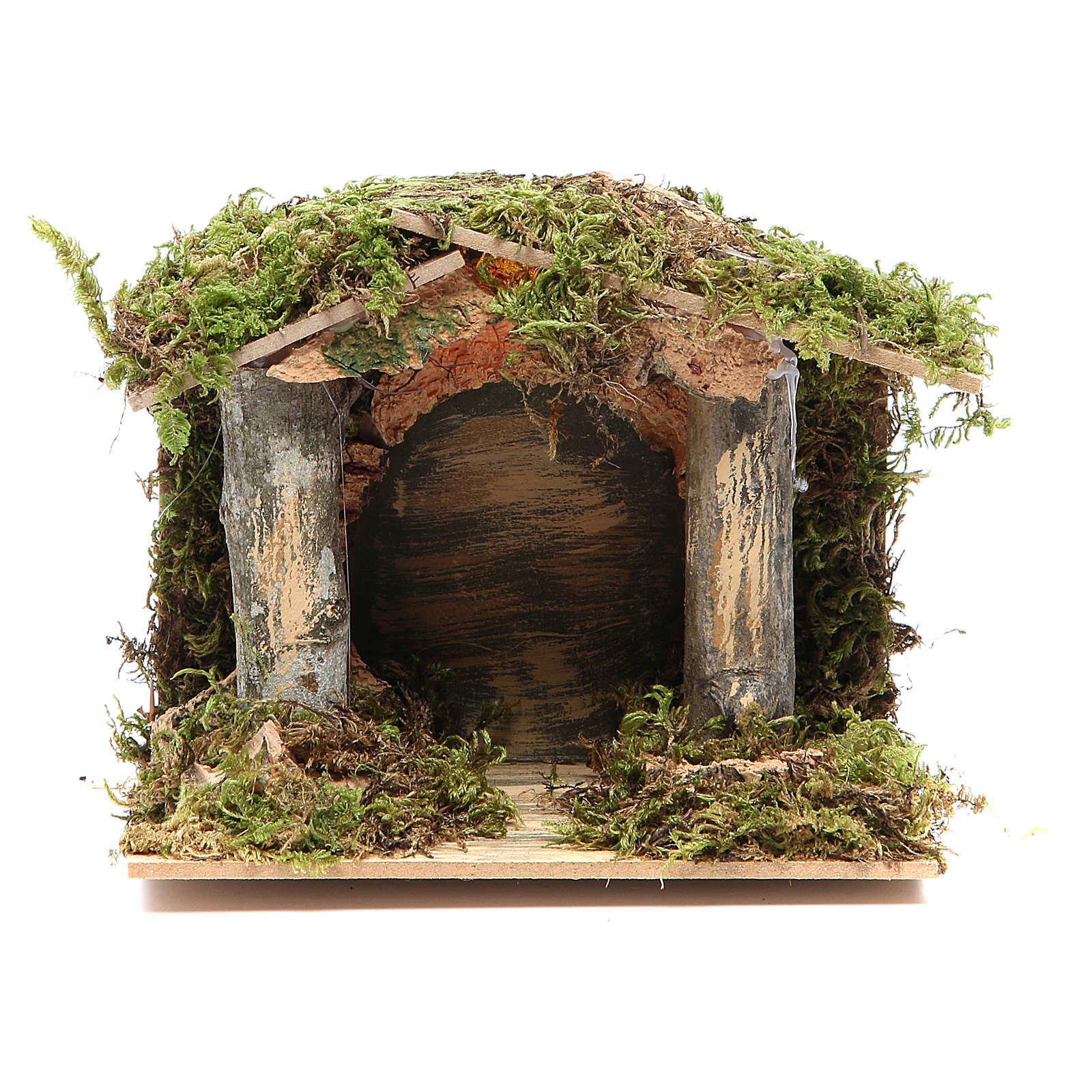 Nativity stable with LED light 13x15x10cm 4