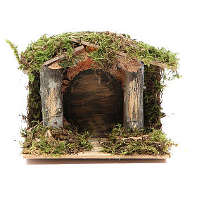 Nativity stable with LED light 13x15x10cm s1