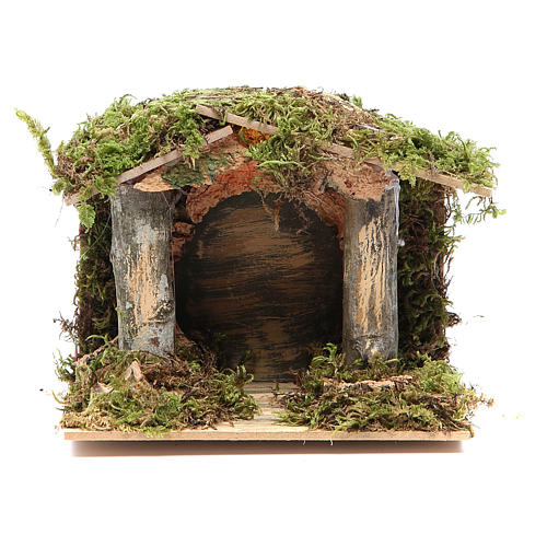 Nativity stable with LED light 13x15x10cm 1