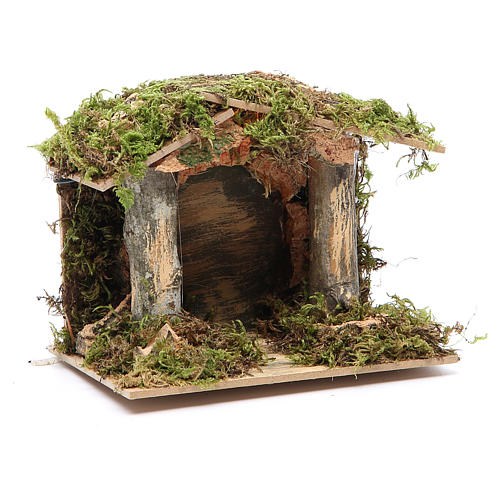 Nativity stable with LED light 13x15x10cm 3