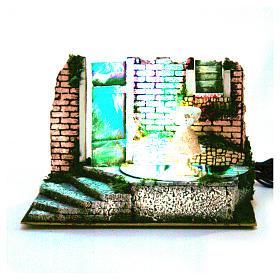 Fontanna do szopki 22,5x33x18cm z 4 led kolorowymi s4