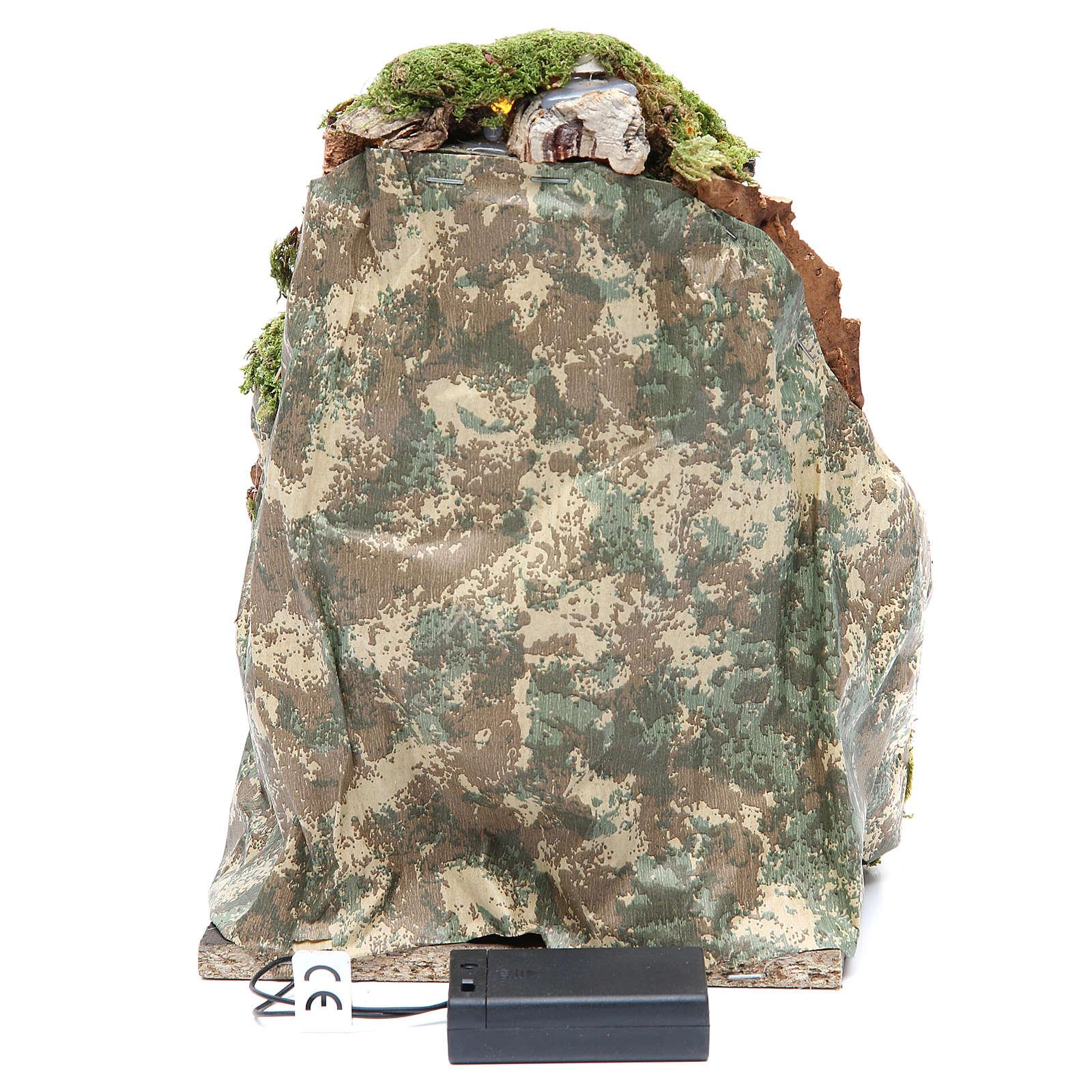 Grotta presepe cm 25x19x18 con 10 luci batteria 4
