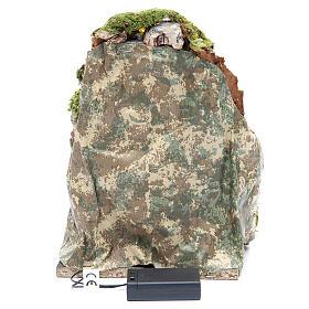 Grotta presepe cm 25x19x18 con 10 luci batteria s4