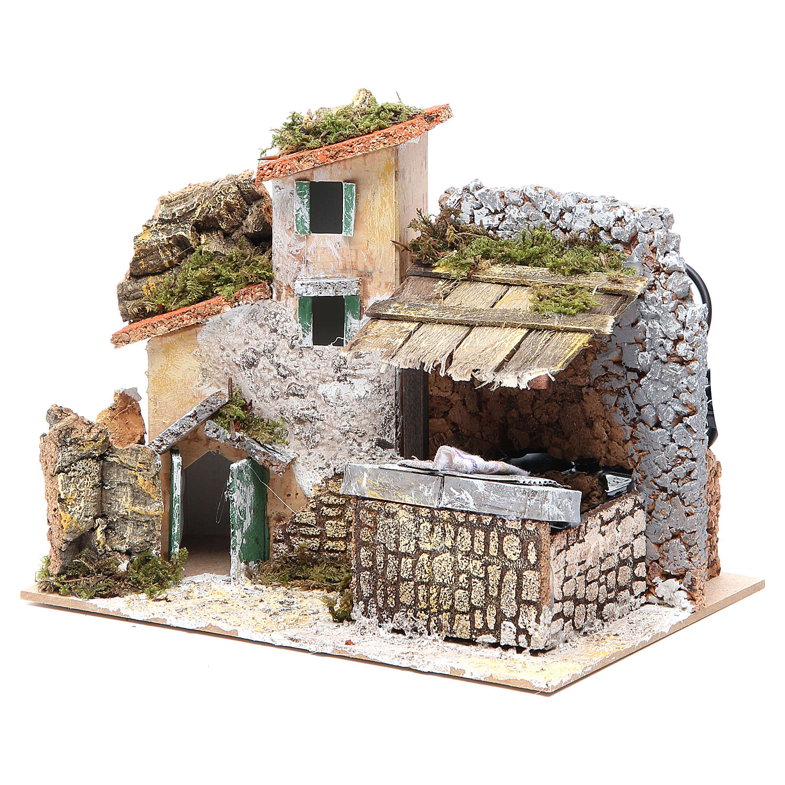 Electric fountain for nativities with wash house 17x20x14cm 4