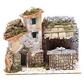 Fontaine crèche avec lavoir 17x20x14 cm s1